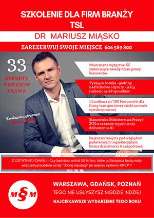 szkolenie dla firm branży TSL