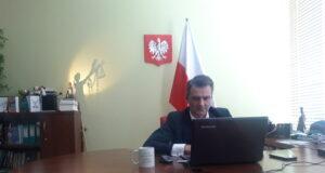 dr Mariusz Miąsko podczas video posiedzenia Rady Przedsiębiorców z Ministerstwami